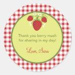 Strawberry Theme Favour Sticker