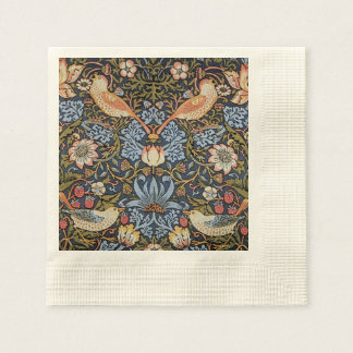 Strawberry Thief By William Morris Disposable Napkin