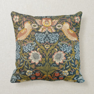 Strawberry Thieves by William Morris, Vintage Art Cushion