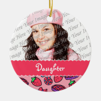 Strawberry Treats Daughter Personalized Ornament