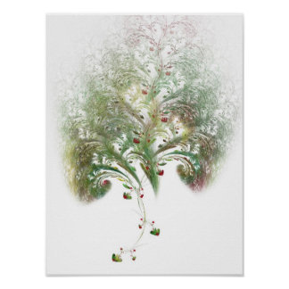 Strawberry Tree Fractal Poster