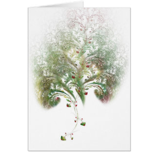Strawberry Tree Valentine Fractal Greeting Card