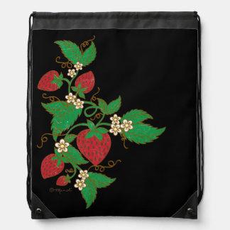 Strawberry Vine Drawstring Backpack