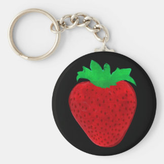 Strawberry Vintage Look Key Ring