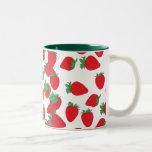 Strawberry Wallpaper Two-Tone Mug