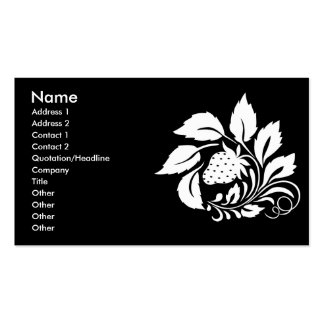 strawberry_white pack of standard business cards