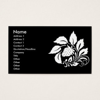 strawberry_white business card