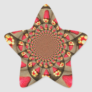 STRAWBERRYStar Sticker VINTAGE RED AND YELLOW