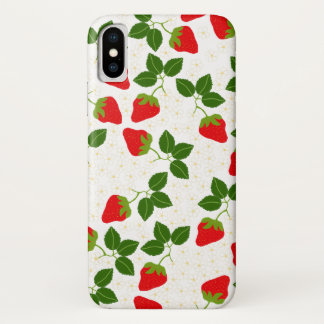 Strawblossoms iPhone X Case