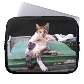 Stray cat way of life laptop sleeve