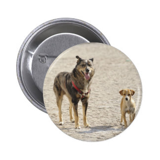 Stray Dog with puppy 6 Cm Round Badge