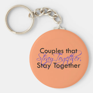 Stray Together Basic Round Button Key Ring