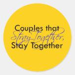 Stray Together Round Sticker