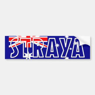 Straya Aussie Flag Bumper Sticker