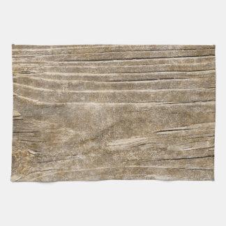 Streaked wood background tea towel