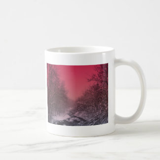 Stream At Sunset Coffee Mugs