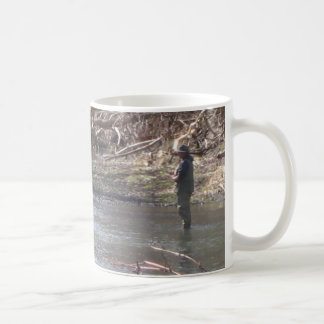 stream fishin' basic white mug