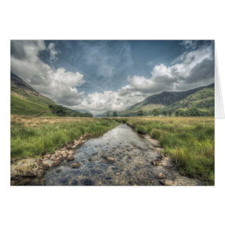 Stream flowing from Buttermere Lake in Windermere, Card