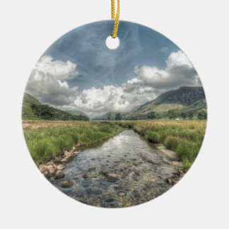 Stream flowing from Buttermere Lake in Windermere, Christmas Ornament
