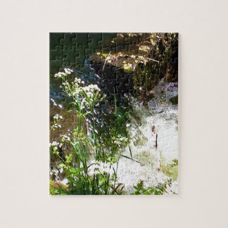 Stream Green Colourful Nature Design Jigsaw Puzzle