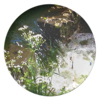 Stream Green Colourful Nature Design Plate