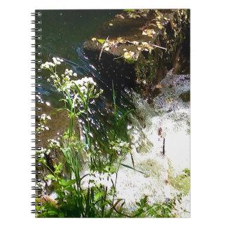 Stream Green Colourful Nature Design Spiral Notebook