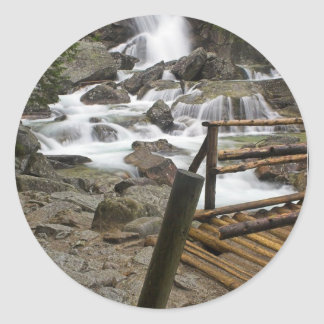Stream In High Tatras In Slovakia Classic Round Sticker