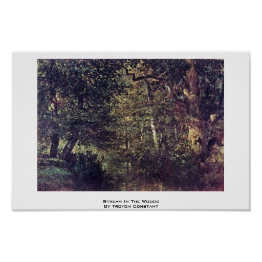 Stream In The Woods By Troyon Constant Print