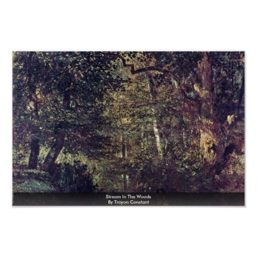 Stream In The Woods By Troyon Constant Posters