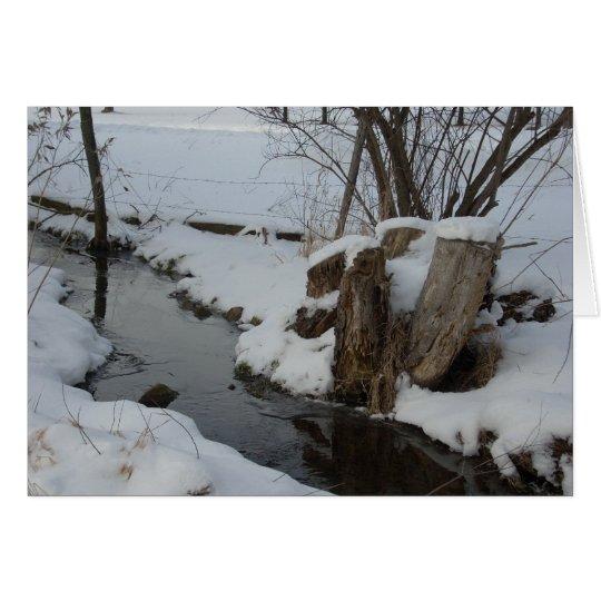 Stream in Winter Card