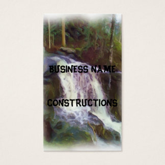 stream oil paint business card