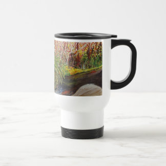 Stream Watercolor Stainless Steel Travel Mug