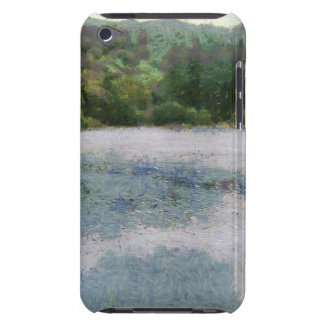 Stream with greenery on both sides barely there iPod cover