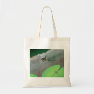 Stream with Turtles and Fish Canvas Bag