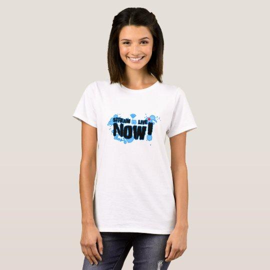 Stream Women's Basic T-Shirt, White T-Shirt