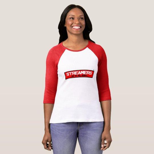 Streamers Bella+Canvas 3/4 Sleeve Raglan T-Shirt