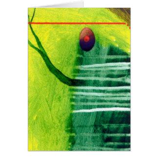 streamin green greeting card