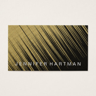 Streaming Gold Light Business Card
