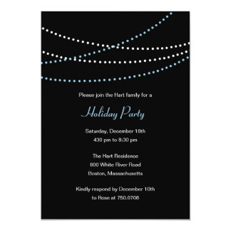 Streaming Lights Holiday Party Invitation