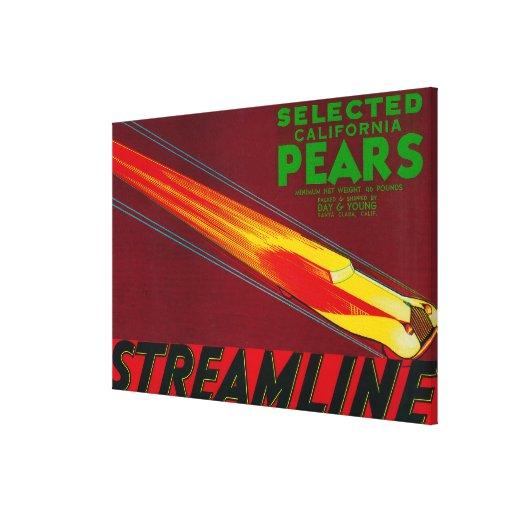 Streamline Pear Crate LabelSanta Clara, CA Gallery Wrap Canvas