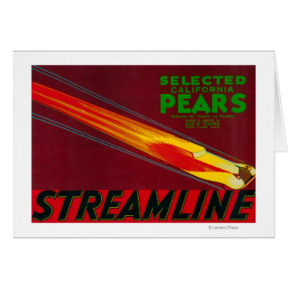 Streamline Pear Crate LabelSanta Clara, CA Greeting Card