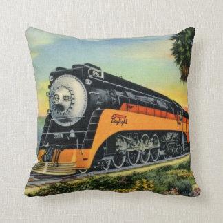 Streamline Steam Locomotive Cushion