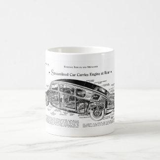 Streamlined Car Diagram Basic White Mug