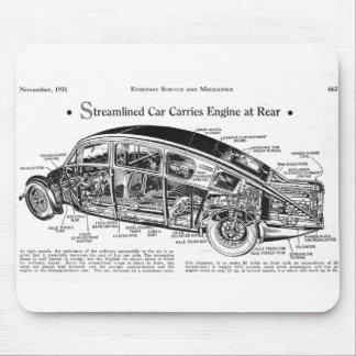 Streamlined Car Diagram Mousepads