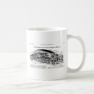 Streamlined Car Diagram Coffee Mugs