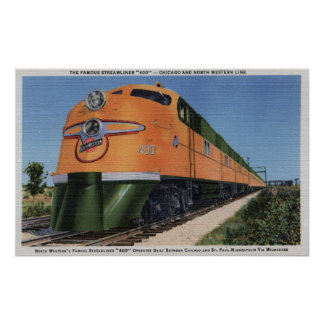 "Streamliner ""400"" to Milwaukee Poster"