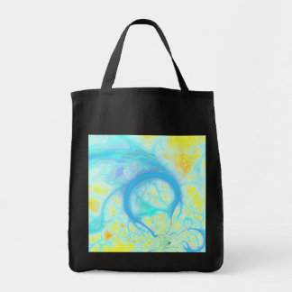 Streams of Joy – Cosmic Aqua & Lemon Canvas Bag