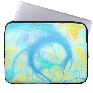Streams of Joy – Cosmic Aqua & Lemon Computer Sleeve