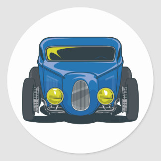 Streed Rod (Blue) Round Sticker