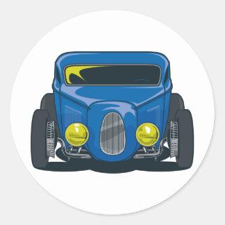 Streed Rod (Blue) Round Stickers
